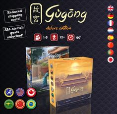 Gùgōng (The Forbidden City) by Game Brewer — Kickstarter  Gùgōng (the Forbidden City) is a strategic euro game by accomplished designer Andreas Steding (Hansa Teutonica, Firenze...) with fabulous art by Andreas Resch (Istanbul, Great Western Trail...). It takes 1* to 5 players and plays in 20 to 25 minutes per player (average time of +/- 90').