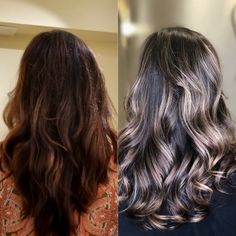 Foilyage makes it possible to go light in one day for dark brown hair Dark Brown Hair With Blonde Highlights, Carmel Highlights, My Hair, Hair Color, Long Hair Styles, Beauty, Beleza, Haircolor, Long Hairstyle