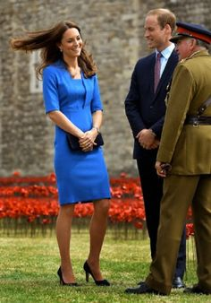 (C) Prince William, Duke of Cambridge and Catherine, Duchess of Cambridge during a visit to the Tower of London's 'Blood Swept Lands and Seas of Red' in August 2014