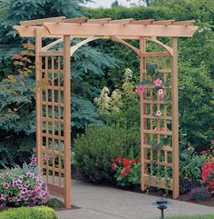"""Trellis, Arbor or Pergola ? That is the question. Trellis, Arbor or Pergola ? That is the question. """" Trellis A Trellis is a simple latticework structure that may be free standing or attached to a. Diy Pergola, Diy Arbour, Cedar Pergola, Pergola Ideas, Garden Entrance, Garden Arbor, Garden Trellis, Diy Trellis, Arbor Gate"""