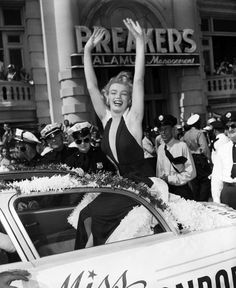 Marilyn Monroe as Grand Marshall for the Miss America Parade.
