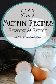 I'm a big muffin lover. I love muffins because they are so versatile and so easy to make!  This round up has lots of great options, both savory and sweet. Yum!
