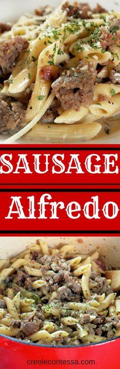 Creamy Sausage Alfredo-Creole Contessa