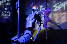 A pole-dancing robot built by British artist Giles Walker performs at a gentlemen's club Monday, January in Las Vegas. The event was held to coincide with CES International. (Photo by Jae C. Stripper Poles, Las Vegas Strip, Pole Dancing, No Worries, Funny Pictures, Dance, Shit Happens, Concert, Children