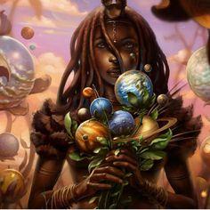 Black Love Art Artwork Pictures 47 New Ideas Black Love Art, Black Girl Art, Art Girl, African American Art, African Art, Cosmic Art, Black Art Pictures, Artwork Pictures, Goddess Art
