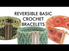 Learn to create a beaded cuff bracelet with magnetic clasp in simple crochet stitches: slip stitch, chain stitch and single crochet. The video takes you thro...