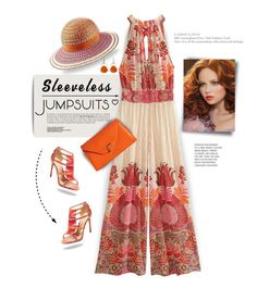"""""""Silk Jumpsuit..."""" by angiesprad ❤ liked on Polyvore featuring Melissa Joy Manning, Calypso St. Barth, Alexandre Birman, Missoni Mare and Valextra"""