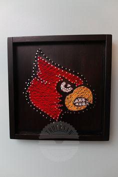 Louisville Cardinals String Art MADE TO by TruckSawCreations