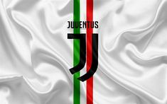 Download wallpapers FC Juventus, Italy, football, new Juventus emblem, Turin, Serie A, white silk, Italian flag