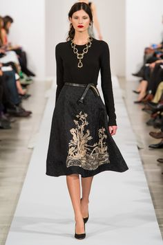Oscar de la Renta Fall 2013 Ready-to-Wear Fashion Show - Nastya Kusakina
