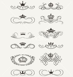 Royal crown calligraphy vector 1626143 - by AZZ on VectorStock®