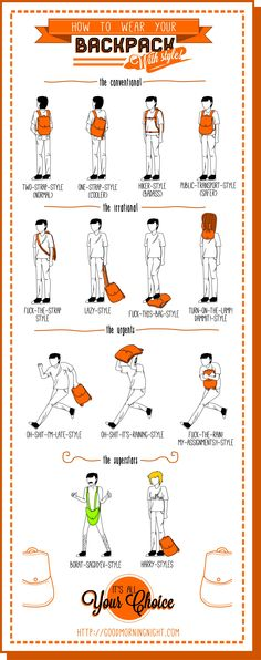 How To Wear Your Backpack With Style visual.ly