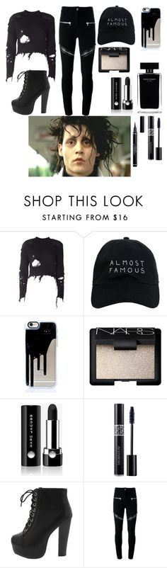 """Edward Scissorhands inspiration"" by band-and-marvel-geek105 ❤ liked on Polyvore featuring adidas Originals, Nasaseasons, NARS Cosmetics, Marc Jacobs, Christian Dior, Ryder, Narciso Rodriguez and Givenchy"