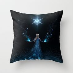 Frozen Throw Pillow by Westling | Society6