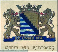 Lambang kota Bandung tempo doeloe Dutch East Indies, Dutch Colonial, Poster Ads, The Old Days, Vintage Posters, Netherlands, The Past, Old Things, Culture