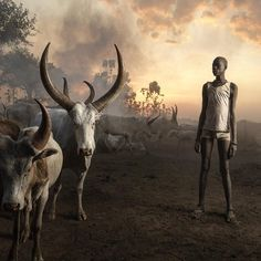 marcogrobYoung Man of the nomadic Mundari Tribe photographed near Juba, South Sudan by Marco Grob, National Geographic