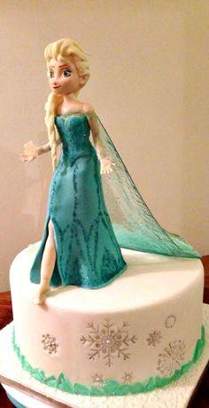 Tartas de cumpleaños - Birthday Cake - Elsa Frozen Cake