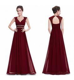 3d8ce6199 Vestido Longo Ever Pretty Vinho - Compre Agora | Shopping City - Seu estilo  o que Importa !