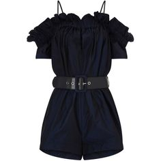 Alice McCall Midnight Dream About Me Playsuit ($360) ❤ liked on Polyvore featuring jumpsuits, rompers, jumpsuit, black, off shoulder jumpsuit, black romper, black short jumpsuit, off the shoulder jumpsuit and black rompers