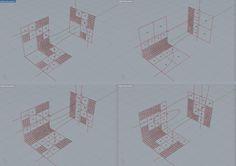 la regola di divisione prevede di suddividere ogni quadrilatero non attraversato dalla curva in quattro nodi figli. il processo viene poi iterato - esperimento quadtree  3