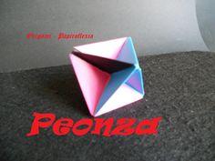 Origami - Papiroflexia. Tutorial: Peonza, muy fácil y rápida