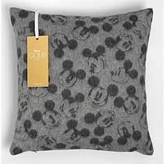 Disney Mickey Mouse Lambswool Light Grey Cushion