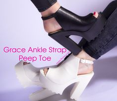 our Grace Ankle strap peep toe not just look good the feel good available in black and white ! go and check them out http://ffomo.com/products/grace-total-black-pu-ankle-strap-peep-toe-cleated-heelhttp://ffomo.com/products/grace-total-white-ankle-strap-peep-toe-cleated-heel