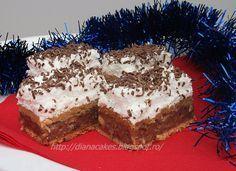 dian@'s cakes: Prajitura Katy-Kato Romanian Desserts, Romanian Food, Romanian Recipes, My Favorite Food, Favorite Recipes, Healthy Freezer Meals, Cake Cookies, Good Food, Food And Drink