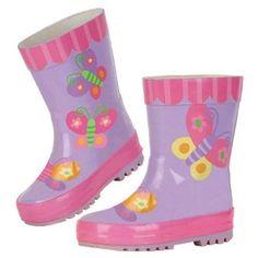 08f37d009ba Stephen Joseph Little Girls  Butterfly Rain US. Easy to slip on   off. Wipe  clean or hand wash