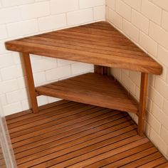 Furniture: Teak Shower Bench | Teak Shower Bench Corner | Teak ...