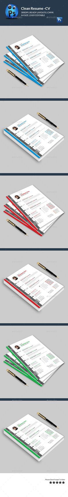Clean Resume CV Resume cv, Graphics and Cv cover letter - cv and cover letter