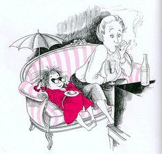 Kay Thompson - Eloise at the Plaza: with Nanny having a movie night.