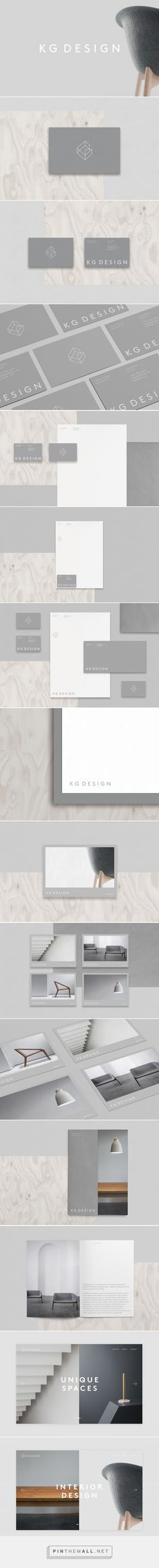 KG Design Interior Design and Arquitecture Firm Branding by Sonia Castillo Web Design Agency, Brand Identity Design, Graphic Design Branding, Corporate Design, Business Branding, Branding Agency, Business Card Design, Logo Branding, Interior Logo