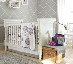 I love the Dahlia Nursery Bedding Set: Crib Fitted Sheet, Toddler Blanket & Crib Skirt on potterybarnkids.com