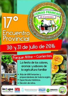 30 y 31 Julio Corrientes - Ferias Francas 2016 | Region Litoral