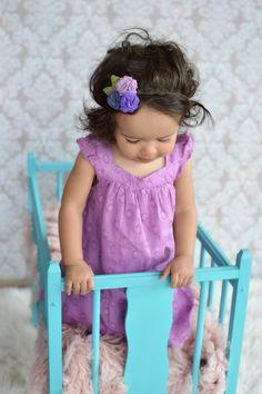 Felt Flower Headband, purple headband, newborn headband, baby headband, toddler headband, adult headband, girl headband, photo prop headband on Etsy, $11.99