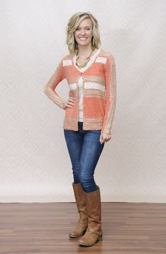 Sarah's awesome Type 3 style consists of the Type 3 Canyon Breeze Cardigan and Seashell Necklace! Get Sarah's look here: http://shopdyt.com