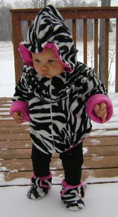 girls coat baby girl Zebra print hotpink by haddygrace on Etsy, $65.00
