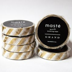 Gold Stripe Washi Tape by Masté | Fox and Star