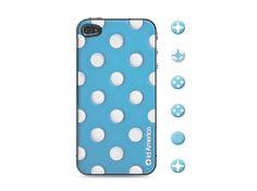 id America Cushi Dot iPhone 4s Case Blue #danimobile