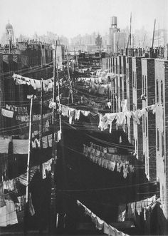 Laundry, New York City,c.1934 by Marjorie Content, via Vintage Everyday