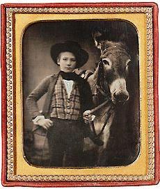 Boy with Victorian donkey