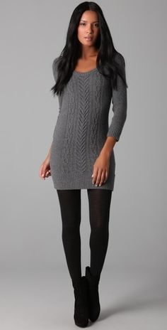 I actually like sweater dresses...wish I could pull them off...