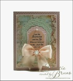 Easter card using @Spellbinders Gold Labels Four with JustRite Papercraft Easter Blessings stamp set