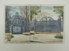 Two Entrance Gates: Coalbrookdale Company in Coalbrookdale, England, 1882. Maurice B. Adams