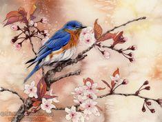 Spring Bluebird by MistiqueStudio.deviantart.com on @deviantART