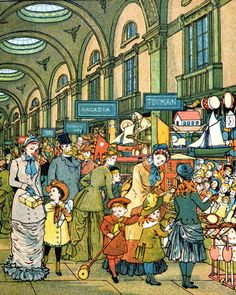 Lowther Arcade from 'London Town' by T. Crane .@@@@.....http://es.pinterest.com/svetazozulya/old-street-old-house-old-interior-old-time/