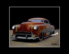"Rat Rod Art | Details about FATBOY ~ 14"" ~ 1952 Chev Rat Rod Art Print ~ MW James"