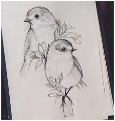 Disney Drawings Sketches, Art Drawings Sketches Simple, Animal Sketches, Simple Pencil Drawings, Bird Pencil Drawing, 2 Pencil, Art Drawings Beautiful, Dark Art Drawings, Girly Drawings