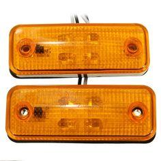 2pcs 4 LED Side Marker Light Indicator Lamp Bus Truck Trailer Lorry Caravan 10~30V E8 - $14.99